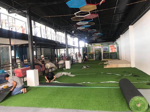 Cỏ nhân tạo phòng gym