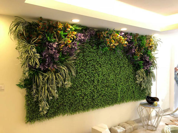 Tường cây lá giả
