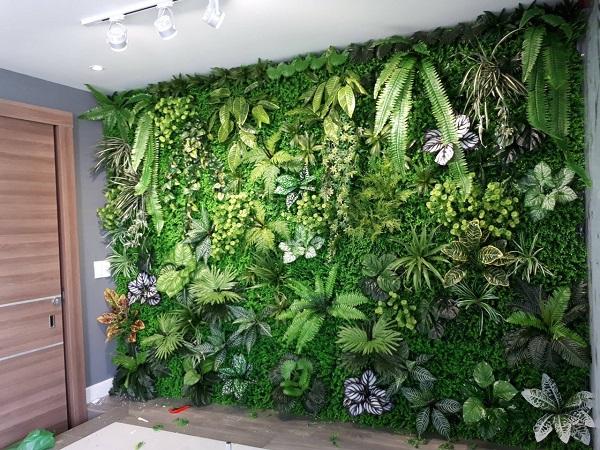 Tường cây lá giả hoa thịn