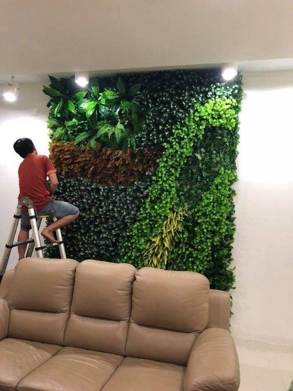 Tường cây kĩ thuật thi công