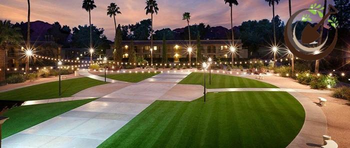 ứng dụng cỏ nhân tạo sân vườn cho khách sạn