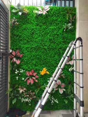 tường cây lá giả tại quận 2