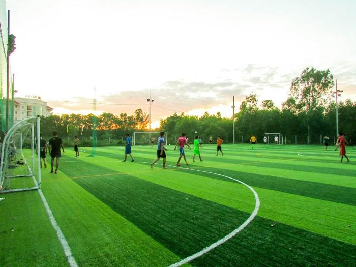 Kích thước tiêu chuẩn dành cho sân bóng đá mini 7 người
