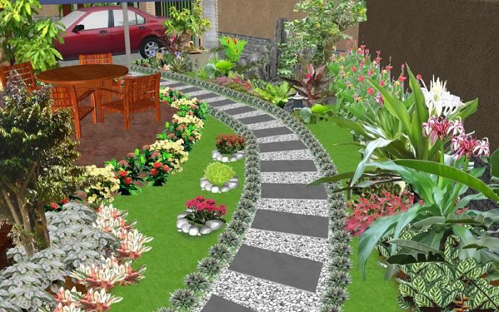 Có thể thiết kế tiểu cảnh sân vườn ở đâu?