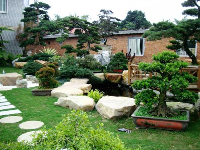 Tiểu cảnh sân vườn với đời sống con người