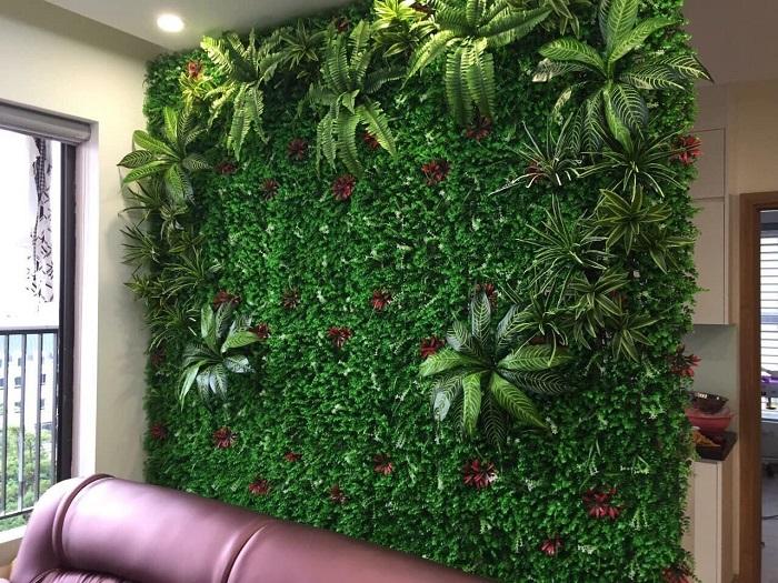 Tường cây giả tại Nha Trang giúp tiết kiệm thời gian và công sức cho gia chủ