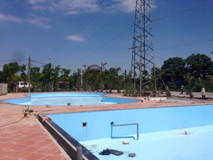 Các bước thi công hồ bơi tại Hoa Thịnh Phát