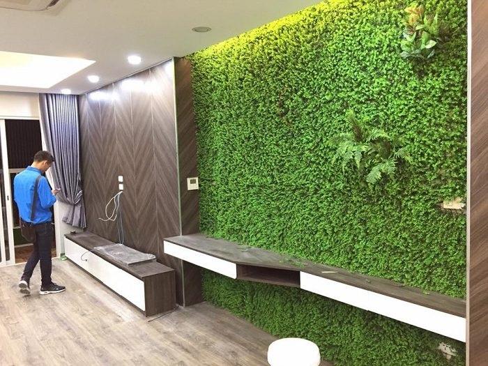 Cần chú ý những gì khi thiết kế, thi công tường cây giả?