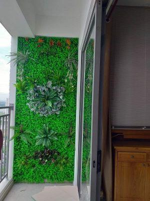 Tường cây giả ở Nha Trang