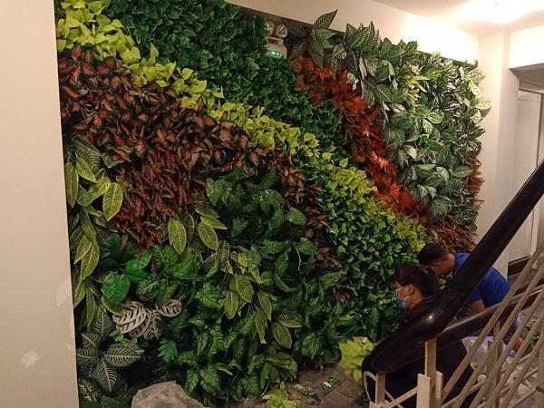 Tường cây giả tại Bình Dương
