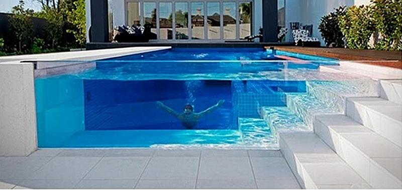 Thi công vách kính hồ bơi